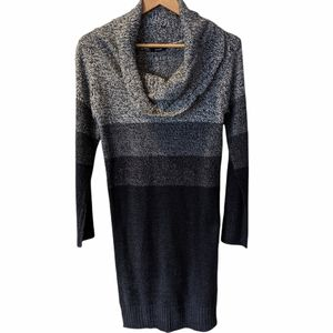 Majora Grey & Black Stripe Sweater Dress